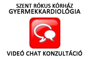 Videó chat konzultáció a Szent Rókus Kórház Gyermekkardiológiai osztályának orvosaival